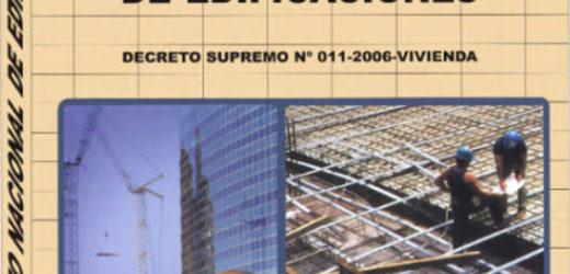 Reglamento Nacional de Edificaciones 2006 –  Descargar PDF