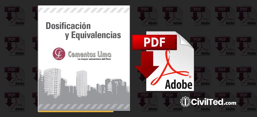 Tabla de Dosificaciones y Equivalencias para la Construcción | PDF