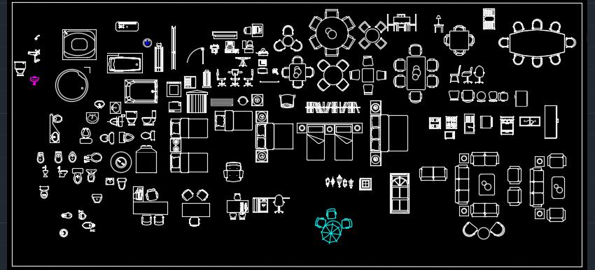 Descargar Bloques AutoCAD  2020 para planos 2D
